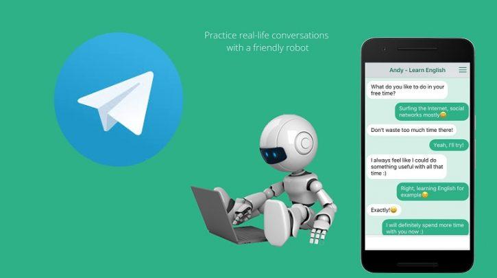 معرفی ربات چت انگلیسی تلگرامی برای سرگرمی و تقویت زبان انگلیسی